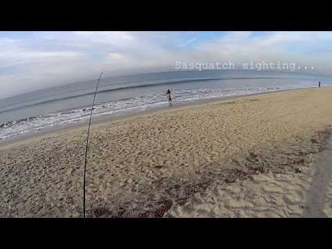 Surf Fishing Oceanside 1/4/14