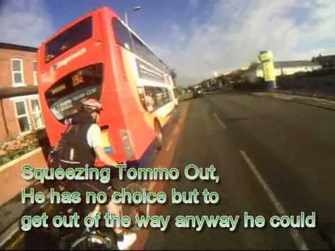http://theamazing39stonecyclist.wordpress.com/ Tommo has a run in with a bus driver. Bus Driver getting upset at cyclists speed Stockport Road.