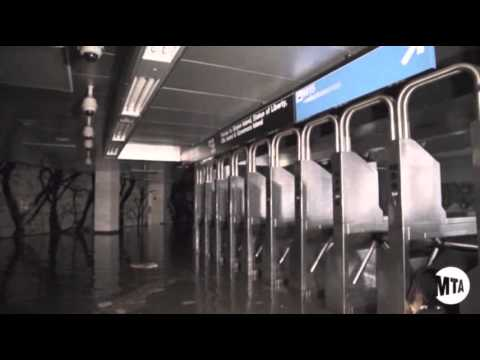 Raw: Sandy Leaves NYC Subways Flooded
