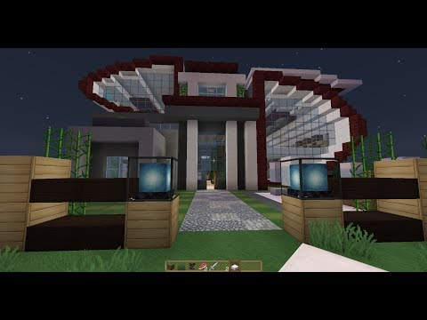 Casa futurista y Moderna - Minecraft