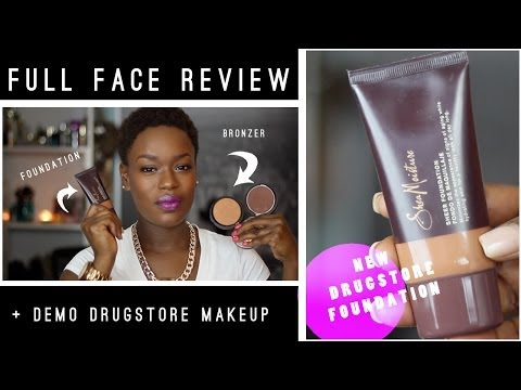 #SheaMoisture Foundation & Bronzer Review FULL FACE