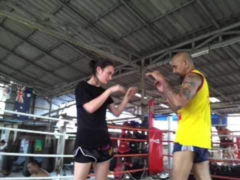 Clinch Training with Taywin Using Elbows - Lanna Muay Thai Image 1