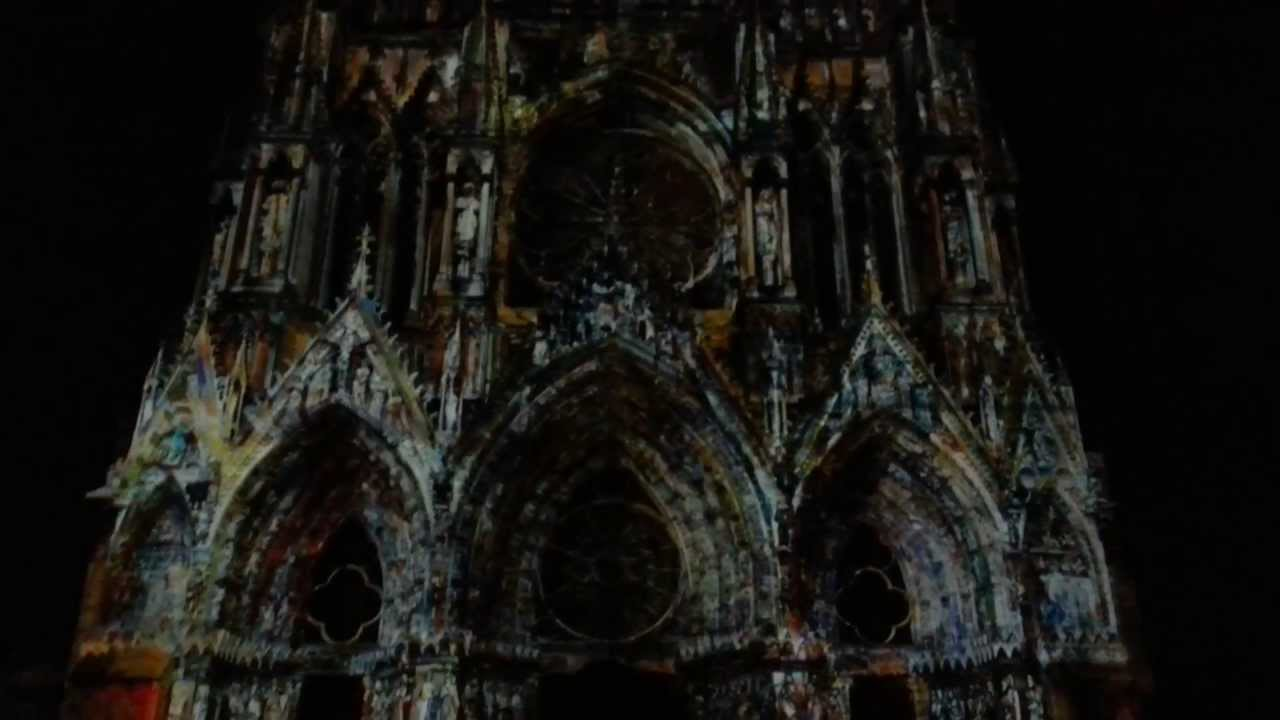 Reims Cathedrale Lumiere Cathédrale Notre-dame de Reims