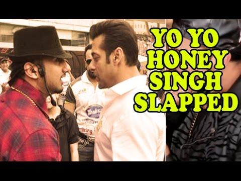 Before Gauhar Khan, Yo Yo Honey Singh Slapped By Bollywood Actor video