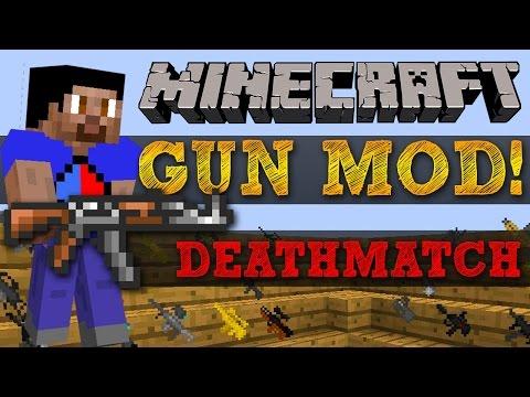 Minecraft Mods GUN MOD DEATHMATCH #2 HIGHRISE with Vikkstar BajanCanadian Woofless JeromeASF