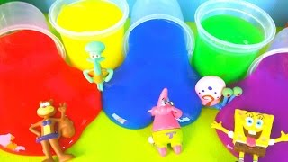 Clay Slime Surprise Toys Spanch bob Лизуны фигурки Губка Боб