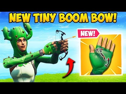 *NEW* TINY BOOM BOW IS INSANE! - Fortnite Funny Fails and WTF Moments! #525