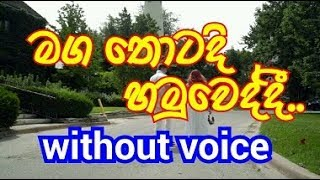 Maga Thotadi Hamuweddi  Karaoke (without voice) මග තොටදි හමුවෙද්දී