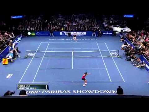 El regreso de Gabriela Sabatini en el Madison Square Garden vs. Mónica Seles
