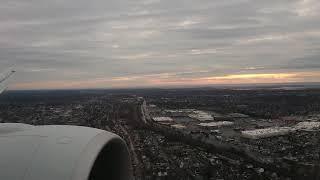 ANA B777ー300ER NH110ニューヨークに着陸@2019.01.01