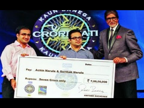 'kaun Banega Crorepati' Amitabh Bachchan Kbc Lauds First 7 Crore Winners-2014! video
