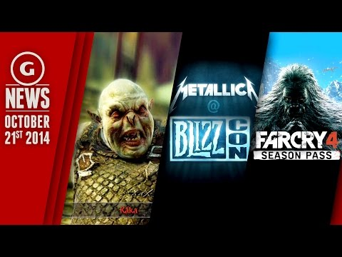Free Shadow Of Mordor Dlc, Yetis In Far Cry 4, And Metallica To Play Blizzcon! - Gs Daily News video