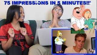 """Couple Reacts : """"75 IMPRESSIONS IN 5 MINUTES!"""" By ThatcherJoe Reaction!!!"""