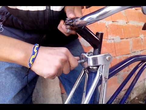 Como planchar una bicicleta con horquilla america