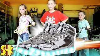 Superpower Speed Shoes! Kids Fun TV vs SuperHero Kids Comics
