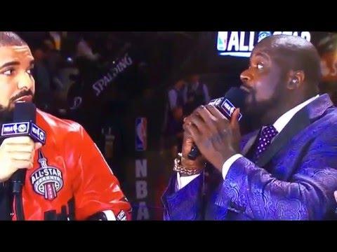Drake and Shaq back to back remix. Freestyle NBA AllStar game. Drake raps to Shaq's beat. Toronto