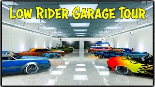 "GTA 5 Online - MY CUSTOM ""LOWRIDER"" GARAGE TOUR! [GTA V]"
