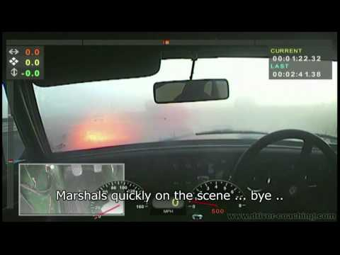 Fire Onboard! Scary Stuff - MGC-GT catches fire at Snetterton UK (Driv
