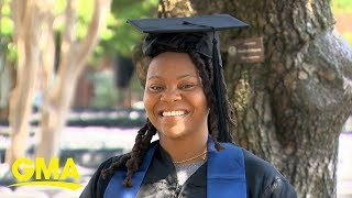 Former homeless student, Georgetown grad: 'Your blessing is there waiting for you'  l GMA Digital