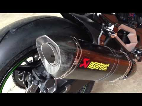 Kawasaki Z800 + Akrapovic Full Exhaust System Sound 2013
