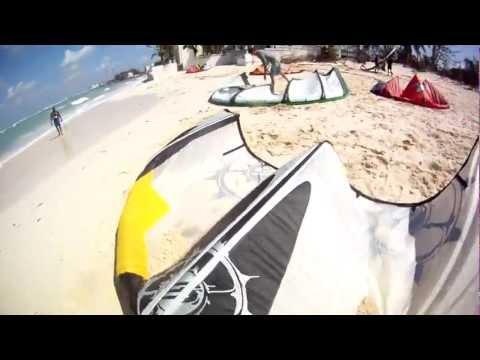 Post-Sandy Kitesurfing Nassau Bahamas 2012
