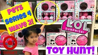 LOL Surprise Pets Series 4 wave 2 Toy Hunting at Target! New Toys Jojo Siwa, Shopkins, LOL Glam