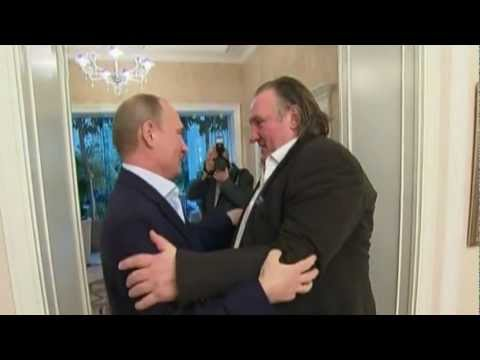 'RASPUTIN* meets  PUTIN in Sochi!'  GERARD DEPARDIEU meets Putin, BECOMES RUSSIAN CITIZEN