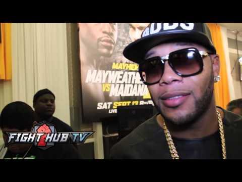 FloRida on wants to see Mayweather vs Pacquiao  talks Mayweather vs Maidana 2
