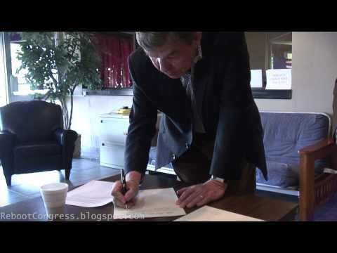 Roy Blunt signs the Tea Party Treaty