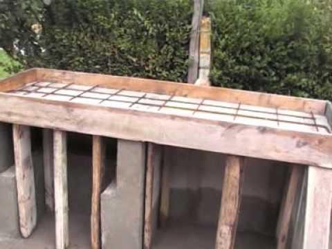 Como construir una barbacoa primera parte youtube - Barbacoa de obra casera ...