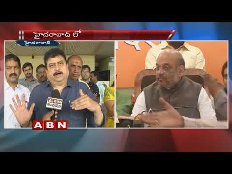 BJP MLC Ramchander Rao face to face Ahead of Amit Shah's Visit