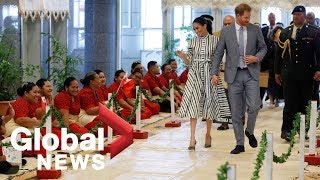Prince Harry, Meghan Markle meet Tonga's prime minister