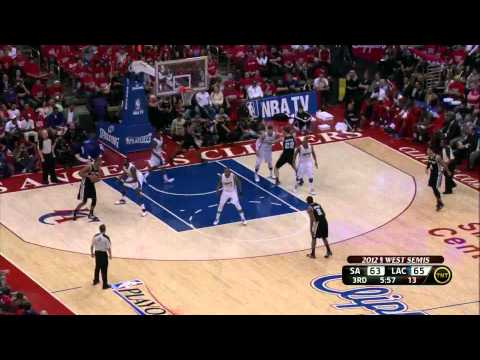 Tim Duncan 21 points beat LA Clippers (sweep) full highlights semi-finals NBA Playoffs 2012.05.20 HD