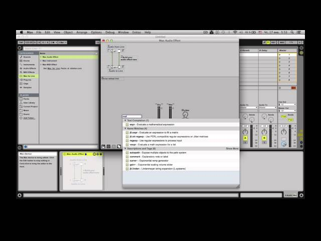 Quick Dry/Wet knob in Max for live (max/msp/jitter)