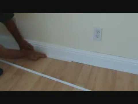 Installing Baseboard To A Prefinished Hardwood Floor Youtube