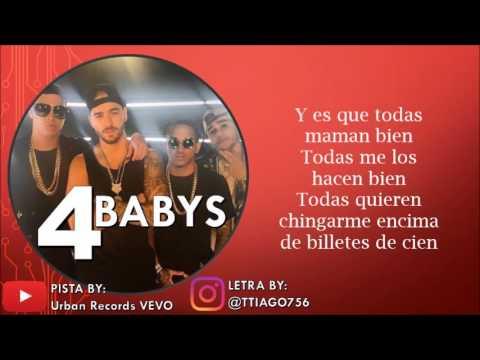 Maluma - Cuatro Babys (KARAOKE - PISTA+LETRA) Ft. Noriel, Bryant Myers, Juhn