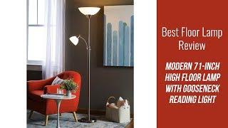 Floor Lamp Review - Modern 71-inch High Floor Lamp with Gooseneck Reading Light