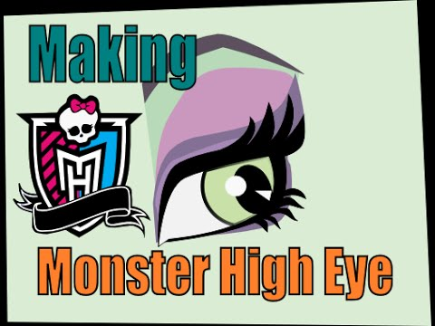 Inkscape - Making A Monster High Eye - Draw Bezier Curves - Not Tracing video