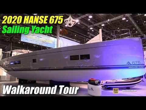 2019 Hanse 675 Sailing Yacht - Deck and Interior Walkaround - 2019 Boot Dusseldorf