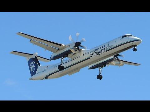 Alaska Airlines (Horizon Air) Bombardier DHC 8 Q400 [N448QX] landing in LAX
