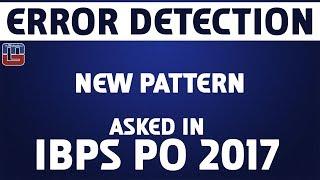 Error Detection | New Pattern | English | IBPS PO 2017