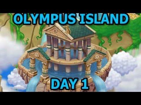 OLYMPUS ISLAND Poseidon Temple Unlocked Dragon City Review Episode 1 - Olympus Habitat