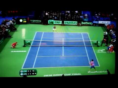 Match point - Federico Delbonis vs Ivo Karlovic - Argentina Campeon FINAL Copa Davis 2016