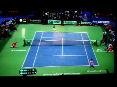 Match point - Federico Delbonis vs Ivo Karlovic - Argentina Campeon FINAL Copa Davis 2016