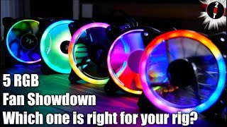 Five RGB Fan Showdown - Which one is right for your rig? (2019 Noise Airflow Test)