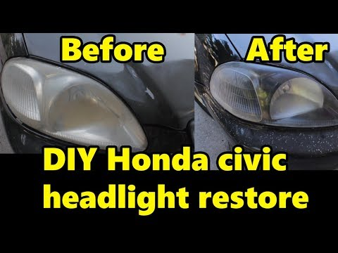 DIY Honda Civic how to clean and paint inside of your headlight