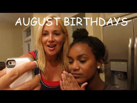AUGUST BIRTHDAYS (Ella and Mom)