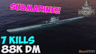World of WarShips | U-69 | 7 KILLS | 88K Damage - Submarine Replay Gameplay 4K 60 fps