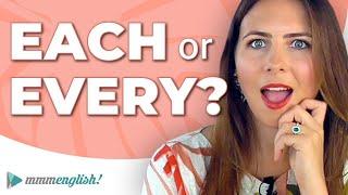 EACH & EVERY   English Grammar Lesson