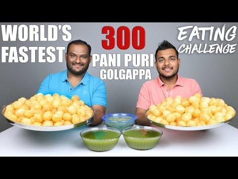 300 PANI PURI / GOLGAPPA EATING COMPETITION | Pani Puri Challenge | Food Challenge thumbnail